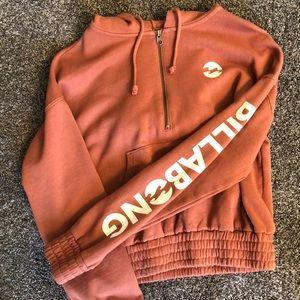 Billabong 1/4 zip hoodie